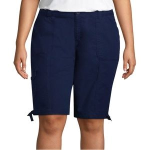 NWT St. John's Bay Size 18W Dark Denim Cargo Short